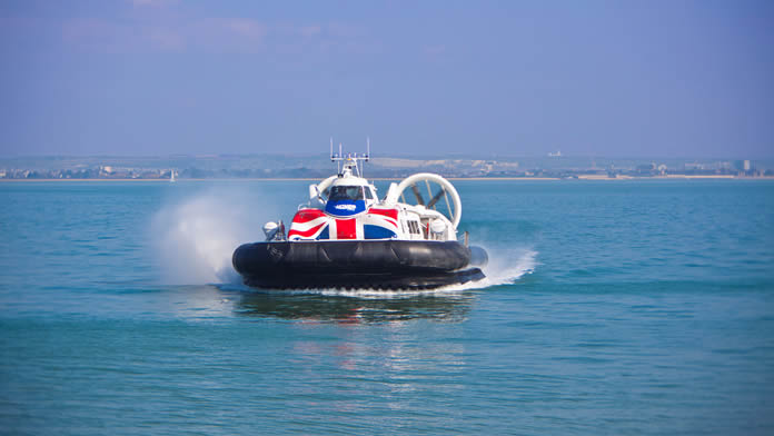 Hovercraft from Southsea to Ryde