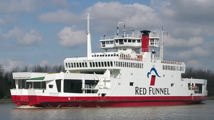 Red Funnel Car Ferry from Southampton to East Cowes