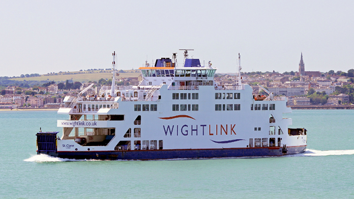 Wightlink Car Ferry from Portsmouth to Fishbourne
