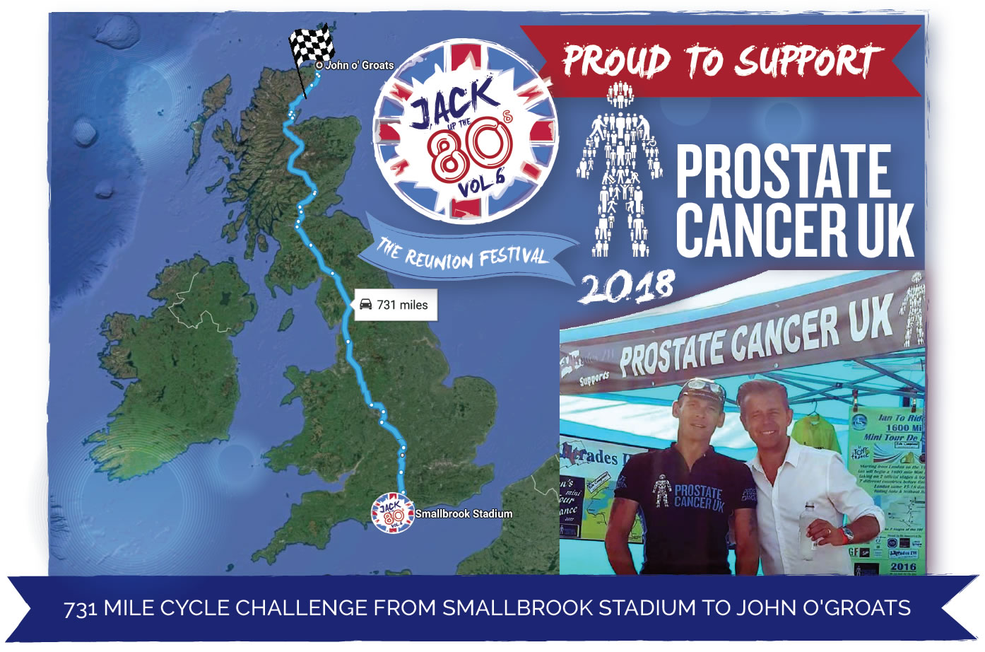 Jack Up The 80s proud to support Prostate Cancer UK