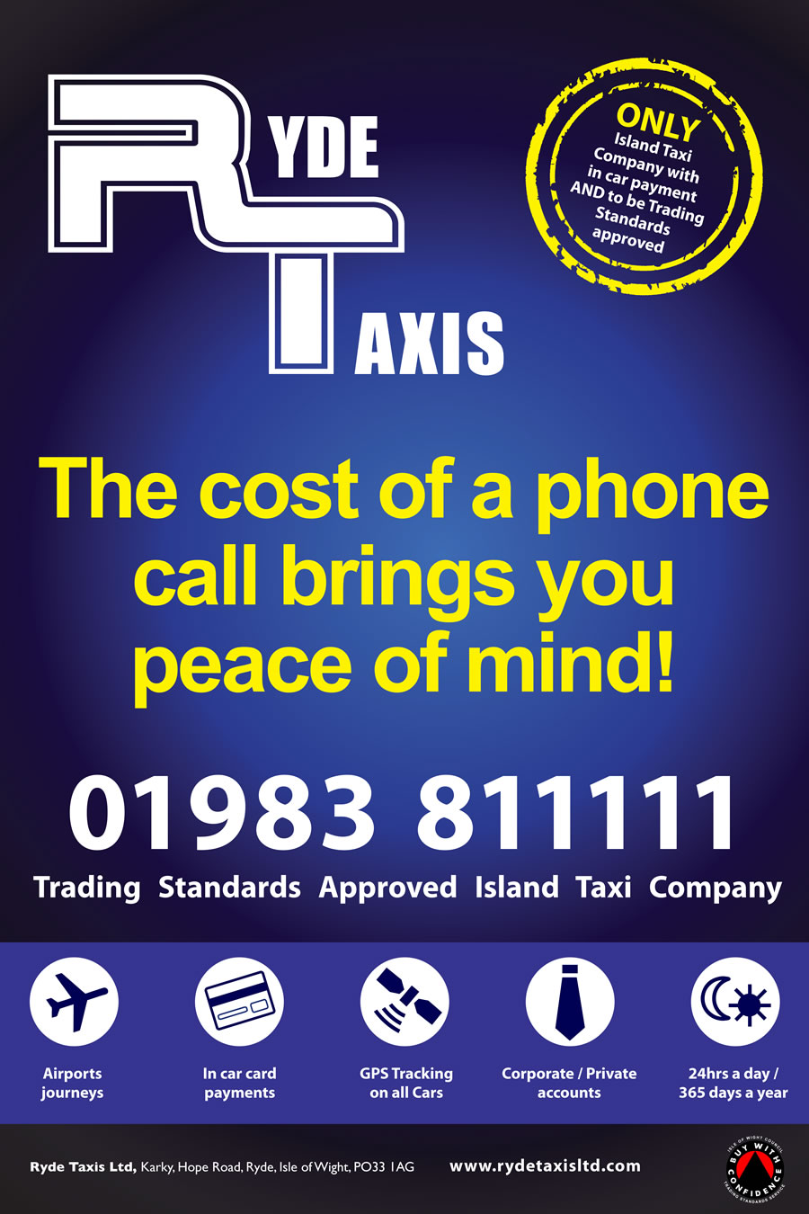 Ryde Taxis poster
