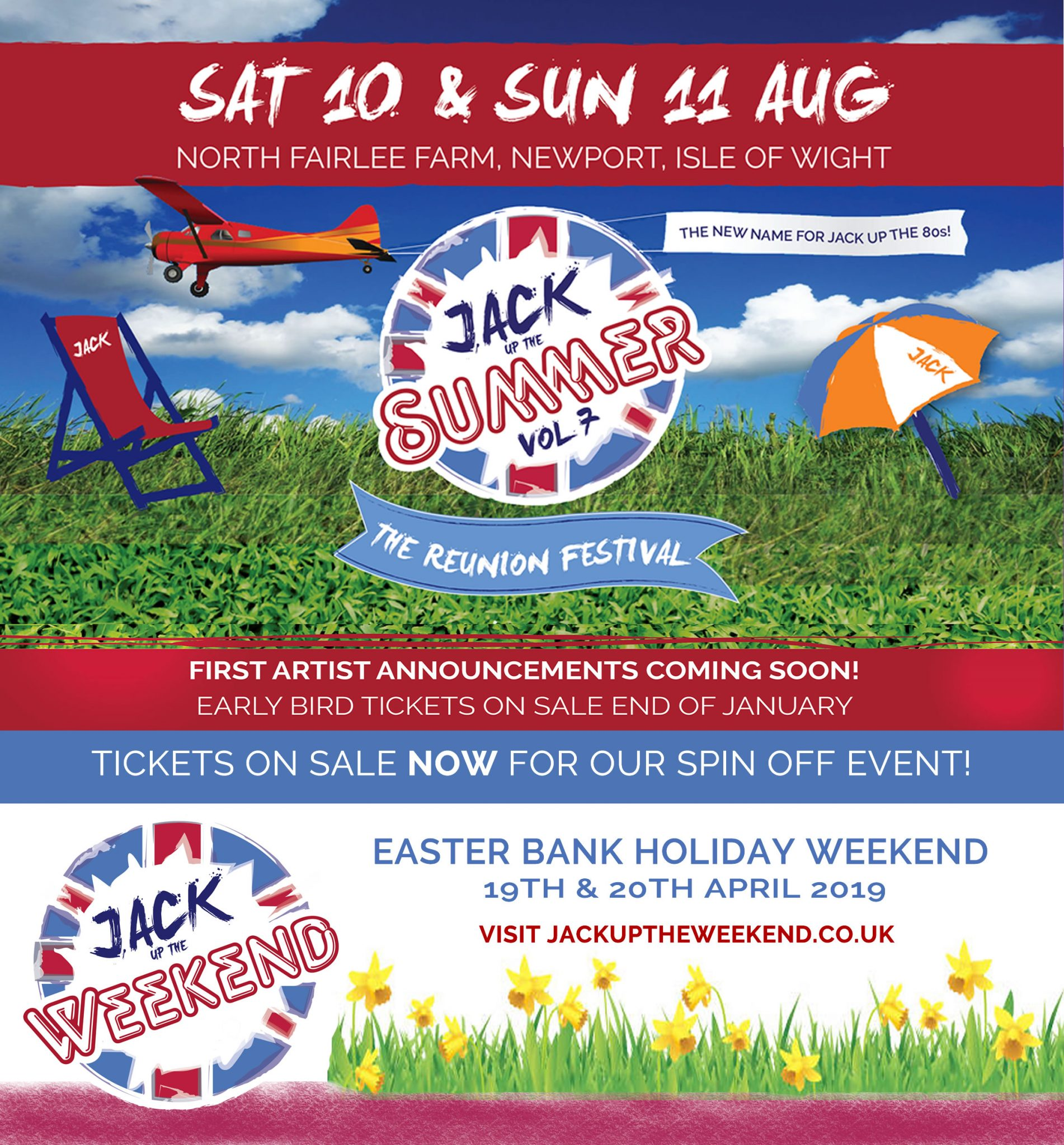 Jack Up The Summer, the family-friendly throwback festival takes place on 10th & 11th August 2019. Tickets on sale soon!